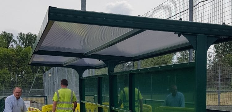 Haughmond Football Club Shelter
