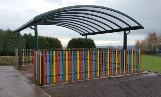 Canopy we fitted at Hawksworth CE Primary School