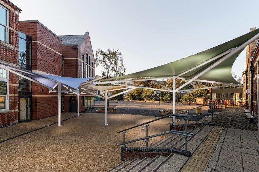 Milton Park Primary School Fabric Shade Sails