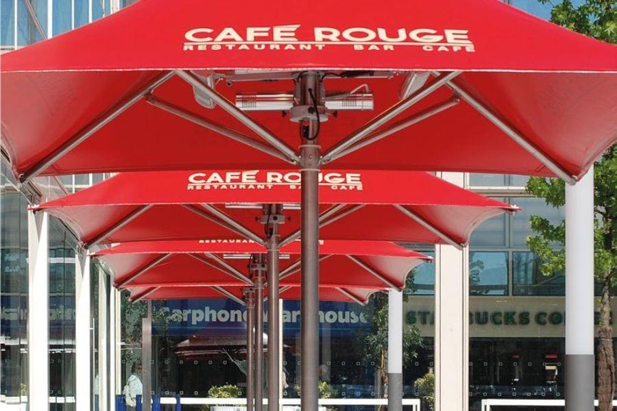 Cafe Rouge Parasols