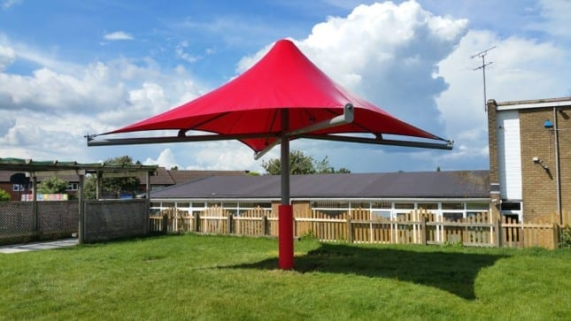 Canopy we fitted at Someries Junior School