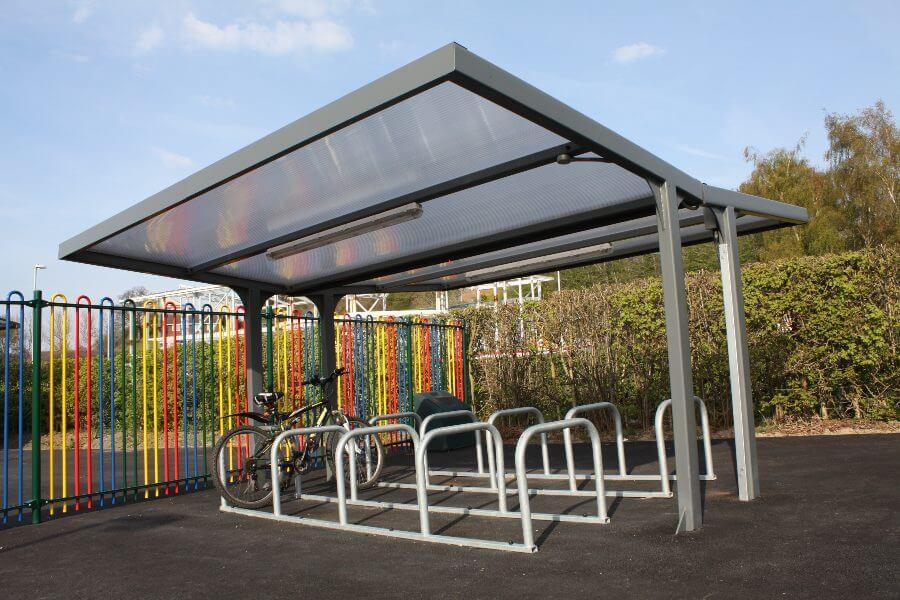 Straight Roof Bike Shelter