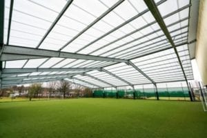 Covered MUGA we installed at the Brier Special School