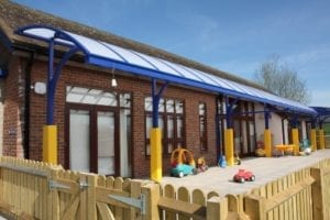 Shelter we installed at Corvedale School