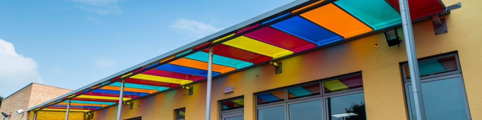 Ysgol Bro Teifi Coloured Canopies