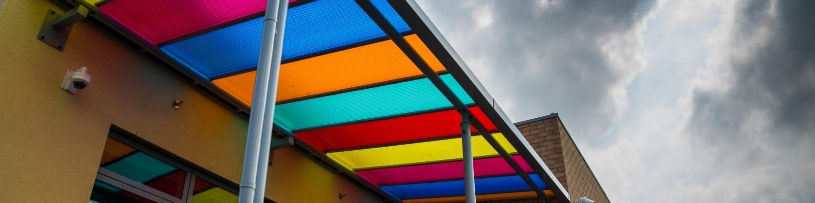 Ysgol Bro Teifi Colourful Canopy