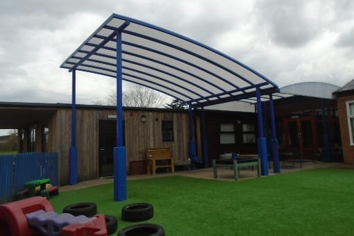 Canopy we fitted at Newtown Primary School