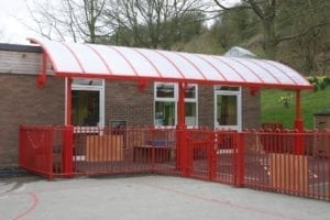 Canopy we installed at Brockton Primary School