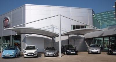 Bespoke Car Forecourt Canopy