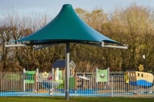 Canopy we installed at Ashcott Playing Fields