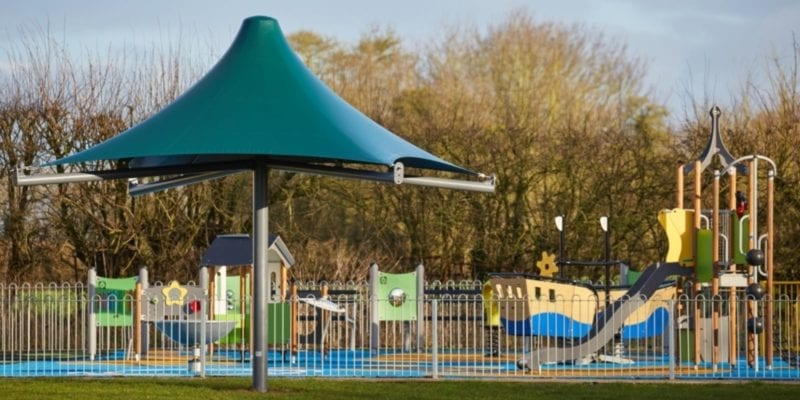 Canopy we fitted at Ashcott Playing Fields