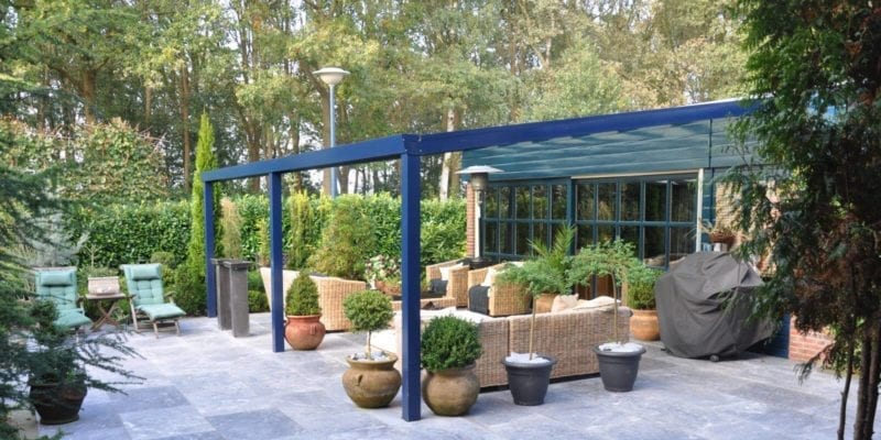Blue Garden Centre Canopy