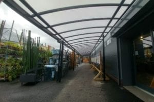 Canopy we fitted at Taskers Garden Centre