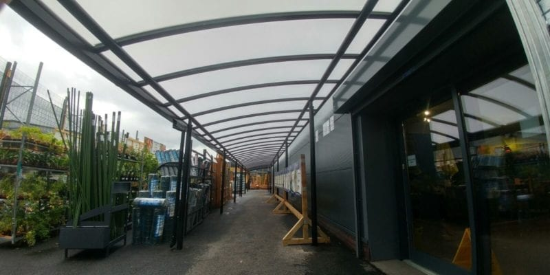 Taskers Garden Centre Curved Roof Canopy