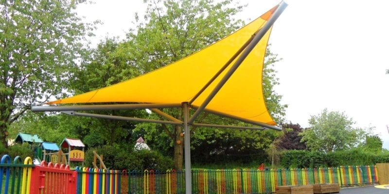 Yellow Playground Canopy