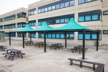 Fabric canopies we designed for Shooters Hill College