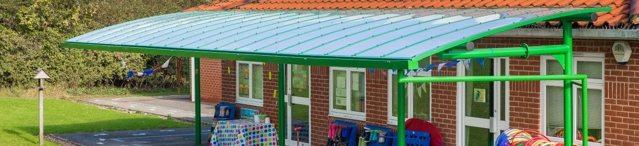Green Primary School Cantilever Canopy