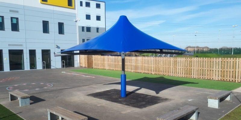 Canopy we installed at Riverside Bridge School