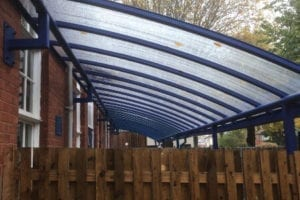 Canopy we designed for Stockingford Primary School