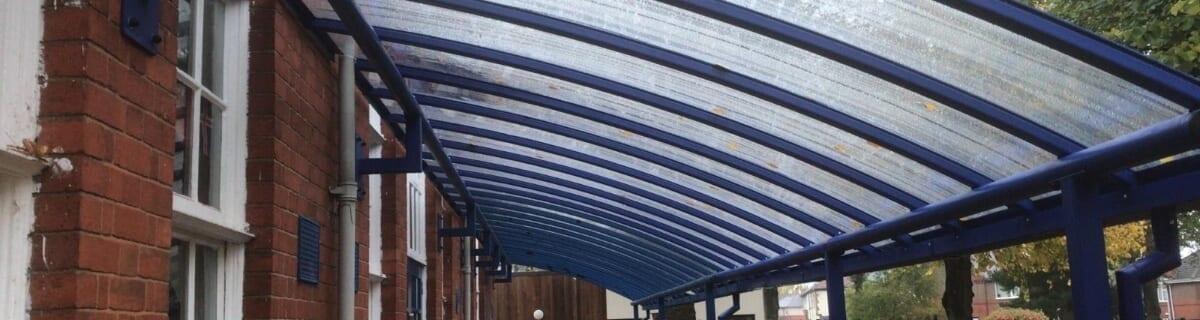 Shelter we designed for Stockingford Primary School