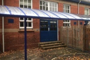Canopy we fitted at Stockingford Primary School