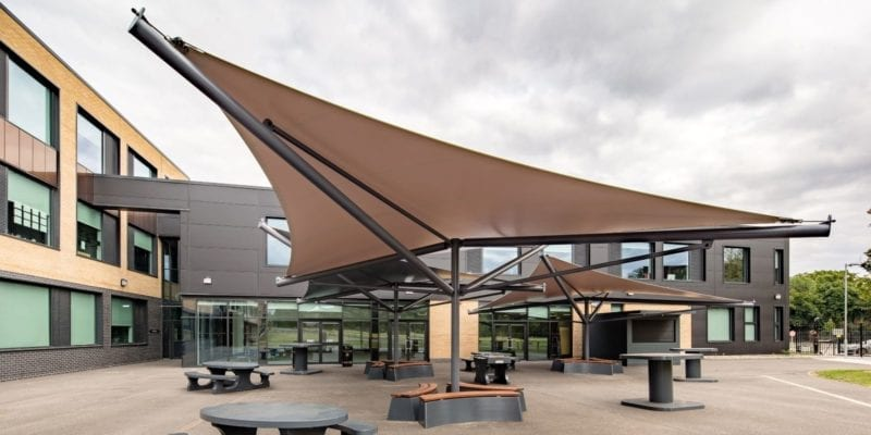 Canopy we designed for The Hessle Academy
