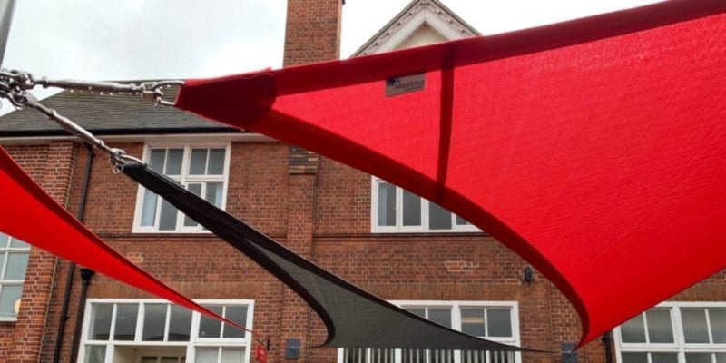 Canopy we installed at the University of Reading