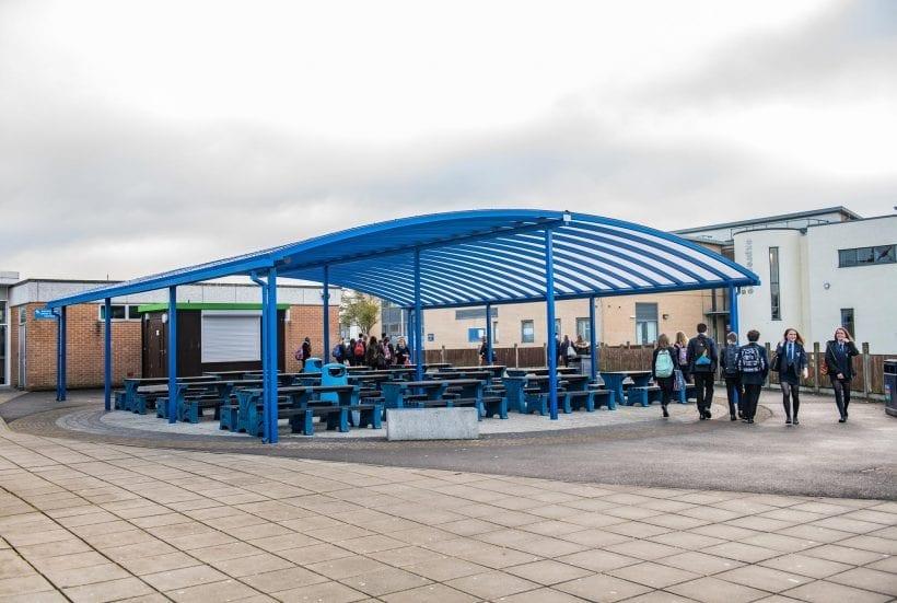 Tewkesbury School Dining Canopy