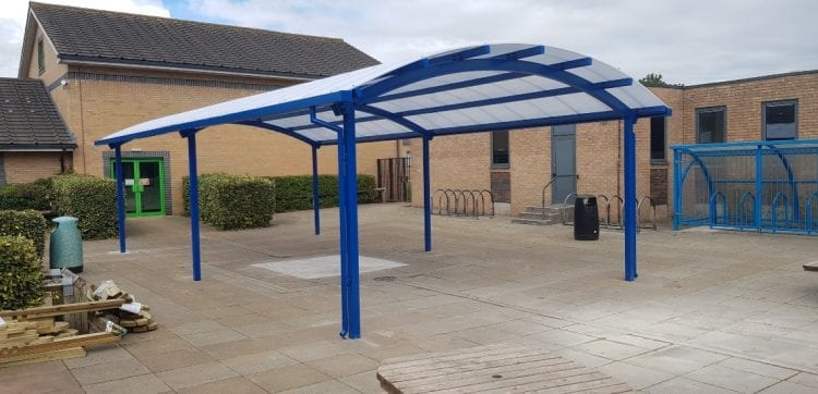 Canopy we designed for Congleton High School