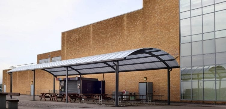 Canopy we designed for Blessed John Henry Newman College