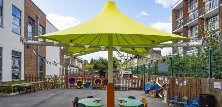 George Mitchell School Umbrella Canopy