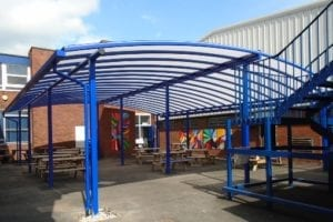Canopy we designed for Brownhills School