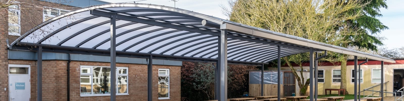 Cirencester College Curved Roof Shelter