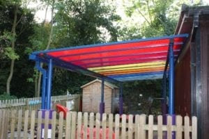 Shelter we installed Coleham Primary School
