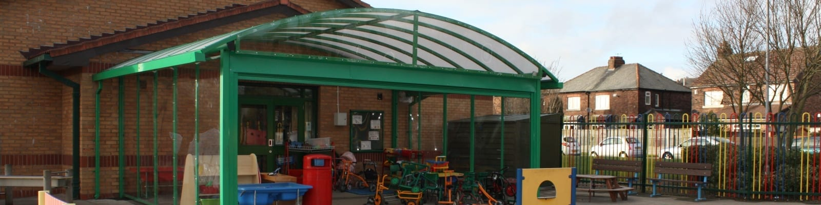 Ditton Primary School Liverpool Secure Canopy