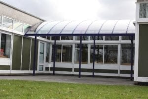 Shelter we fitted at St Giles School
