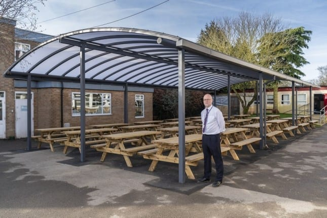 Shelter we fitted at Cirencester College