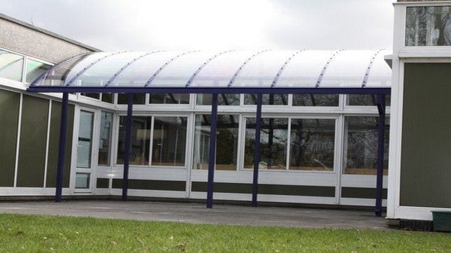 St Giles C of E Primary School Curved Roof Shelter