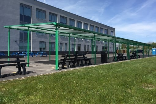 Shelter we added to Blackpool Aspire Academy