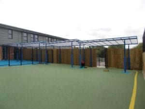 Shelter we fitted at Boston Spa School