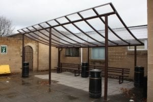 Shelter we designed for Coleg Powys