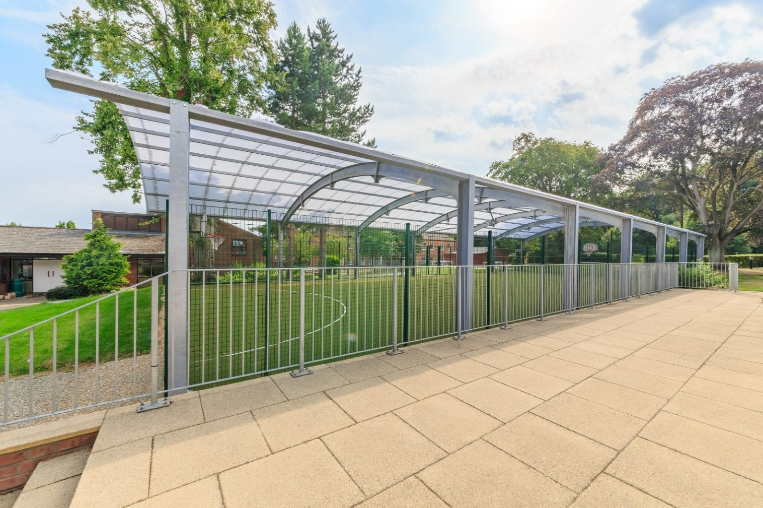 Covered MUGA Fence at Haileybury College