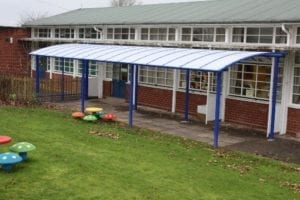 Shelter we added to Crowmoor Primary School