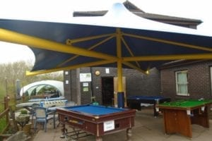 Canopy fitted at Droitwich Spa School