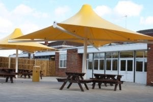 Canopies we installed at Godalming College