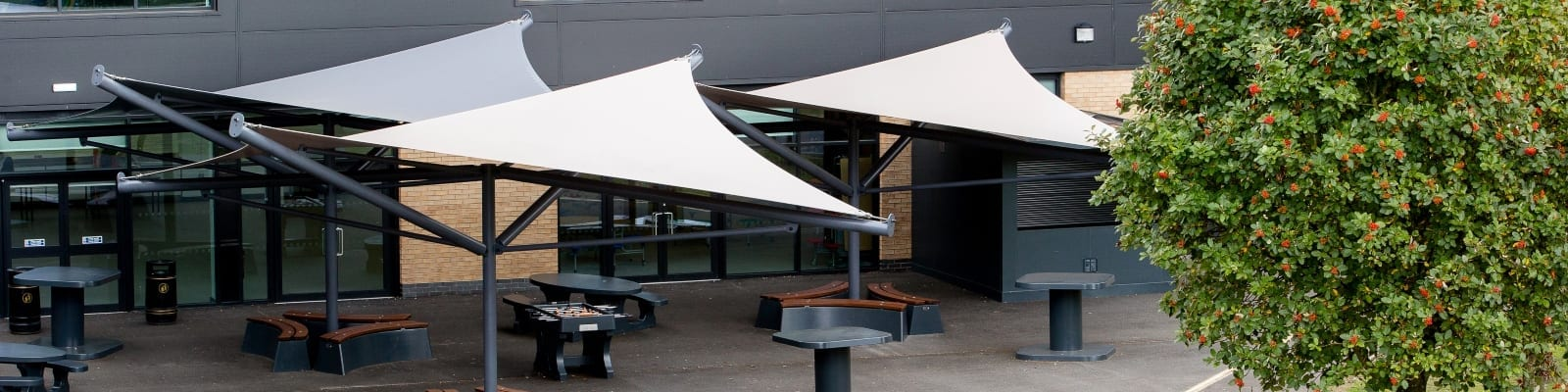 Hessle Academy Fabric Sail Shades