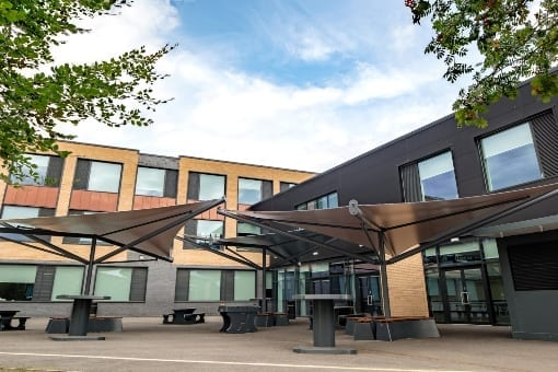 Shade sails we designed for the Hessle Academy