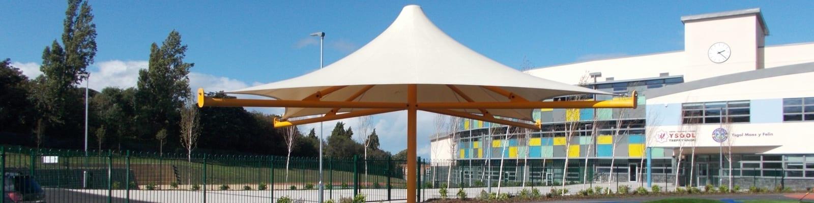 Holywell Learning Campus Umbrella Shelter