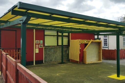 Shelter installed at Lower Heath School