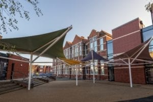 Shade sails we installed at Milton Park